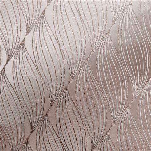 Muriva Couture Wallcovering Onda 703021 rose gold