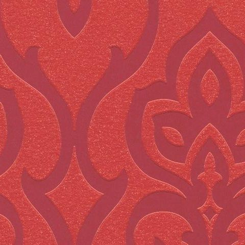 Barbara Becker Contemporary Damask Style Wallpaper Raspberry 717037