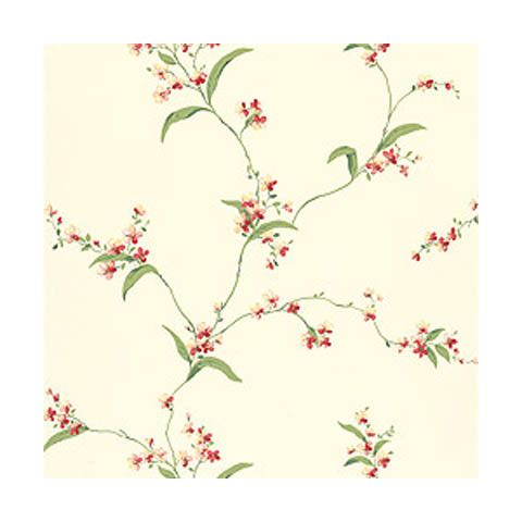 Thibaut Spring Lake Orchid Trail Off White Wallpaper