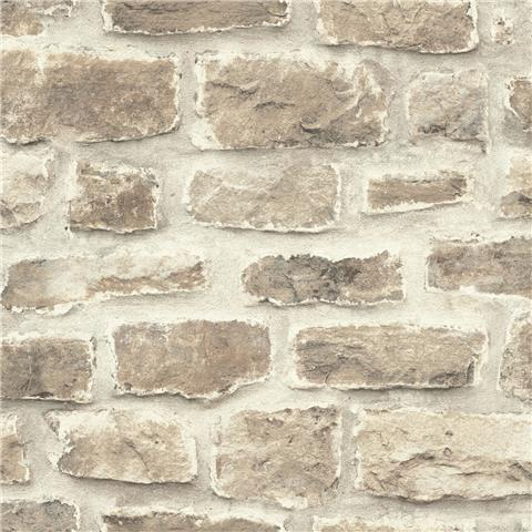 Barbara Becker Beige/Brown Brick Wallpaper 860610