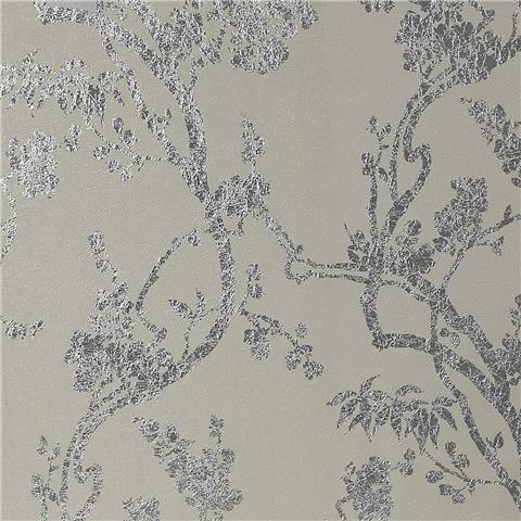Arthouse Vinyl Wallpaper Sundown Foil 901802 Dove/Grey