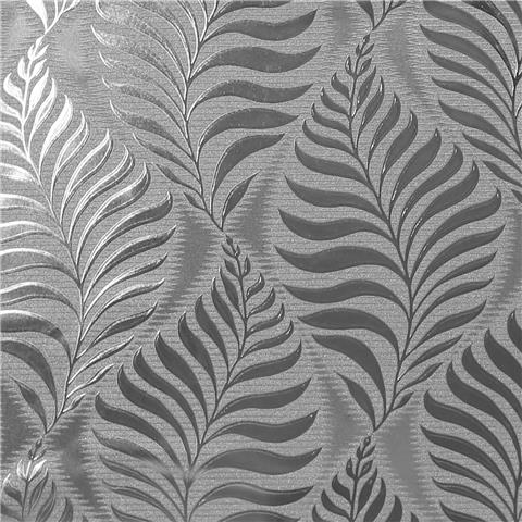 Arthouse Vinyl Wallpaper Foil Leaf 901804 Silver