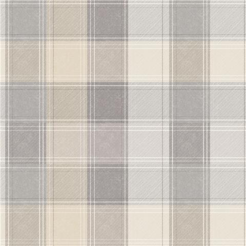 Arthouse Country Check Wallpaper 901902 Beige/Grey