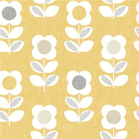 ARTHOUSE RETRO HOUSE WALLPAPER flower 902305