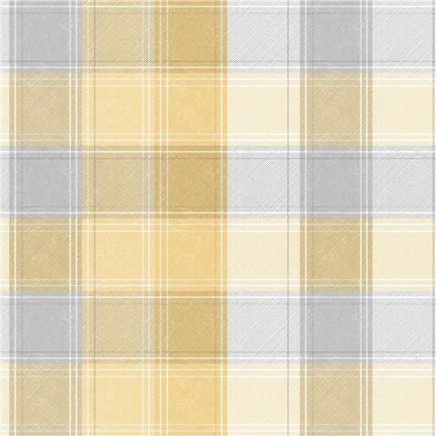 Arthouse Country Check Wallpaper 902807 Ochre
