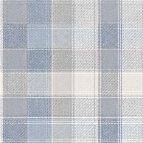 Arthouse Country Check Wallpaper 902808 Blue