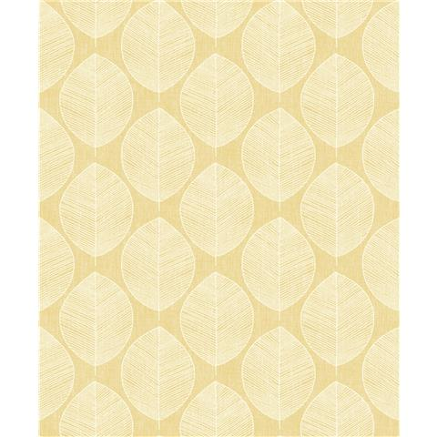 Arthouse Retro House Wallpaper Scandi Leaf
