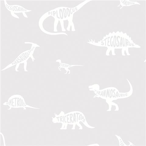 Over the Rainbow Wallpaper-Dino Dictionary 90900 grey