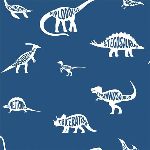 Over the Rainbow Wallpaper-Dino Dictionary 90901 blue