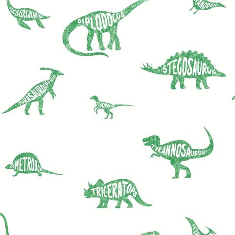 Over the Rainbow Wallpaper-Dino Dictionary 90902 green
