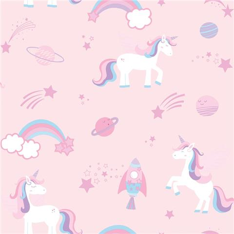 Over the Rainbow Wallpaper-unicorns and rainbows 90961 pink