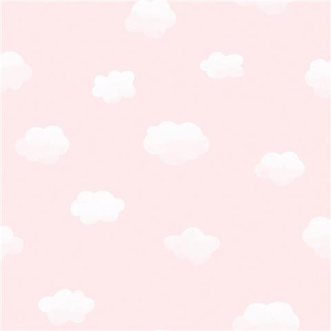 Over the Rainbow Wallpaper-Cloudy Sky 90992 Pink