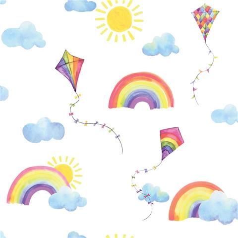 Over the Rainbow Wallpaper-Rainbows and Kites 91020 multi