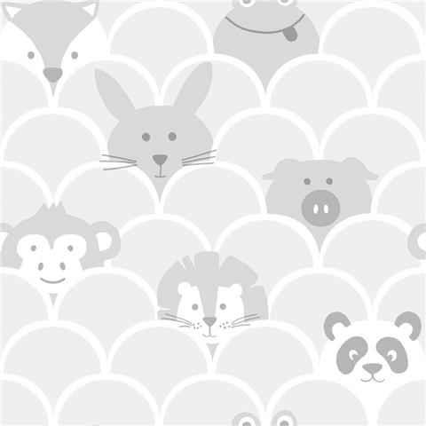 Over the Rainbow Wallpaper-Peek a boo 91030 grey