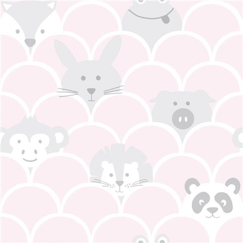 Over the Rainbow Wallpaper-Peek a boo 91031 pink