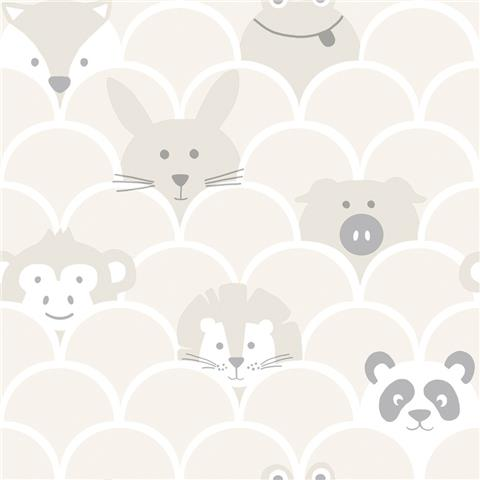 Over the Rainbow Wallpaper-Peek a boo 91032 neutral