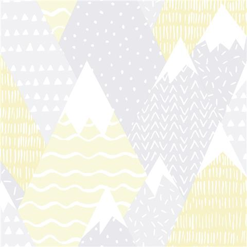 Over the Rainbow Wallpaper-Mountains 91050 yellow