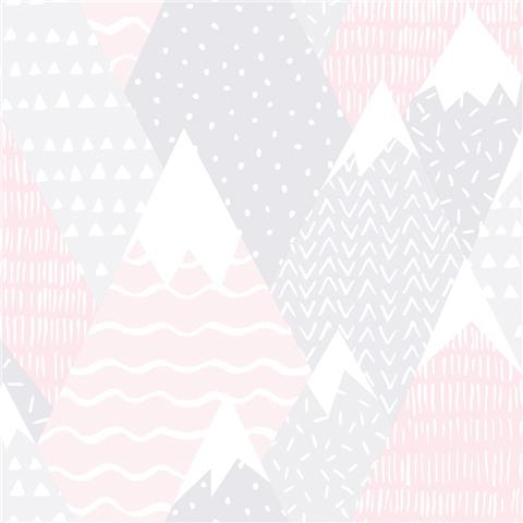 Over the Rainbow Wallpaper-Mountains 91051 pink