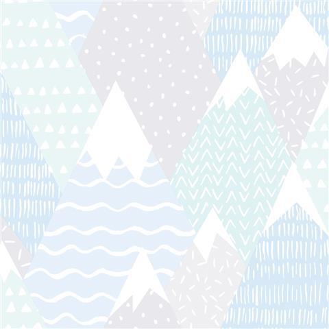 Over the Rainbow Wallpaper-Mountains 91052 teal