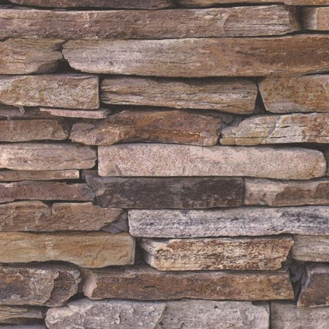 Wood and Stone Natural Look Wallpaper 9142-17