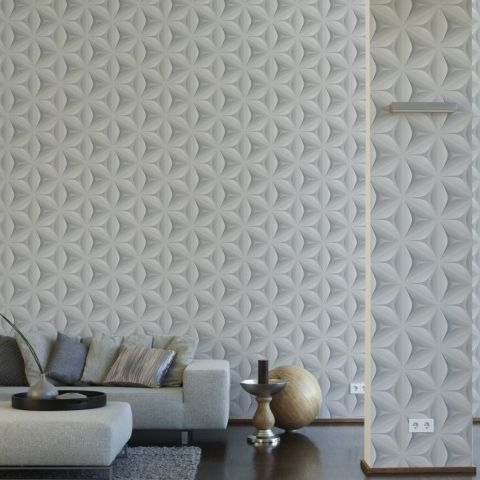3D Effect Move Your Wall Retro Wallflower Wallpaper 960421 Grey