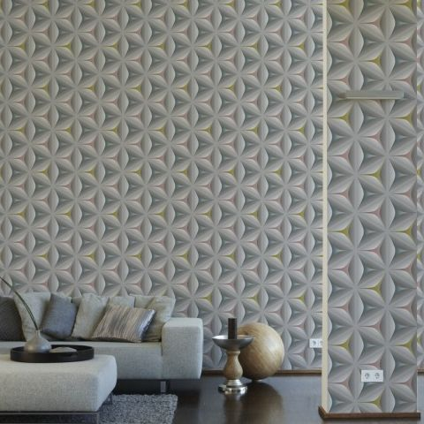 3D Effect Move Your Wall Retro Wallflower Wallpaper 960422 Multi