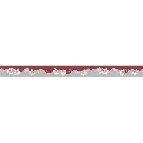 TEXTURED BORDER 96211-2 red/grey