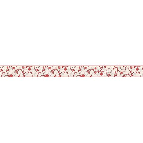 TEXTURED BORDER 96213-1 red/white