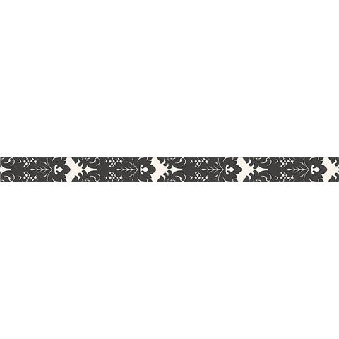 TEXTURED BORDER 96214-1 black/white