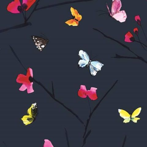 Mazarine Butterfly Paste the Wall Wallpaper 97531 Midnight/Multi