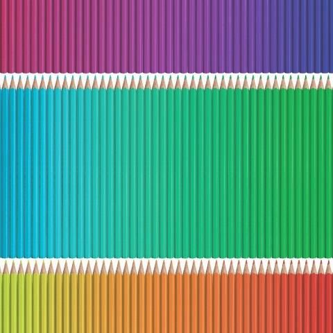 Pencils Multi Wallpaper