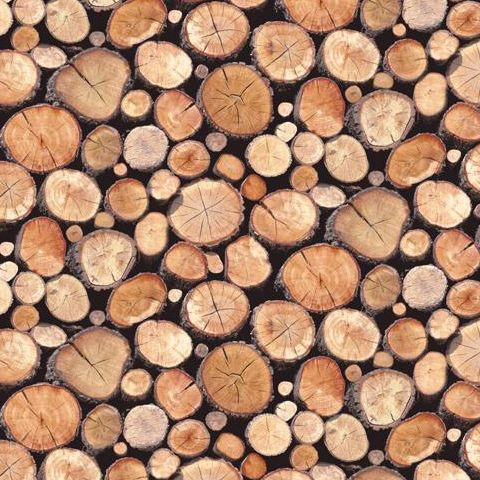 Stacked Logs Wallpaper