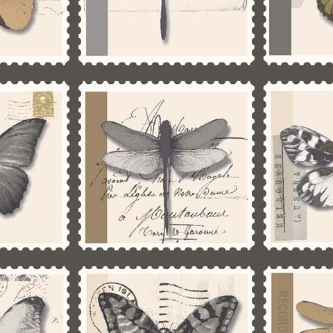Statement Butterfly Feature Wallpaper Farfalla 97941 Charcoal/Gold