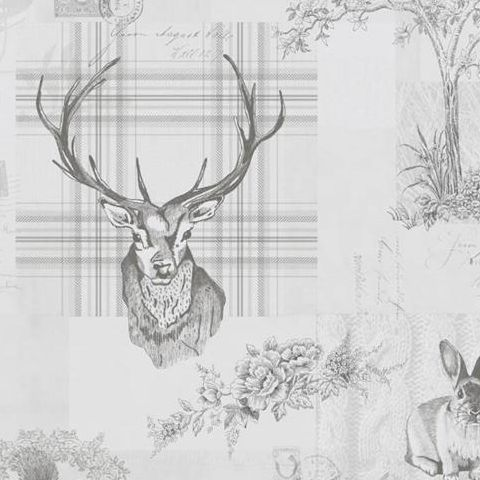 K2 Feature Wallpapers by Holden Richmond Stag Grey 98013