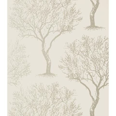 Anna French Seraphina Winfell Forest Wallpaper AT6001 Silver on Neutral