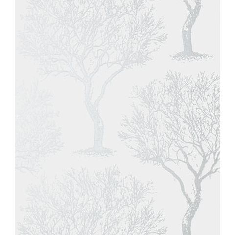 Anna French Seraphina Winfell Forest Wallpaper AT6002 Silver on Grey