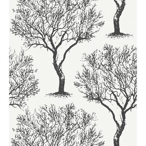 Anna French Seraphina Winfell Forest Wallpaper AT6005 black and White