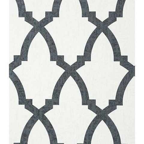 Anna French Seraphina Brock Trellis Wallpaper AT6022 Black and White