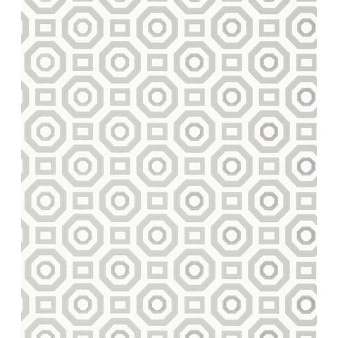 Anna French Seraphina Zane Wallpaper AT6034 Silver on Grey