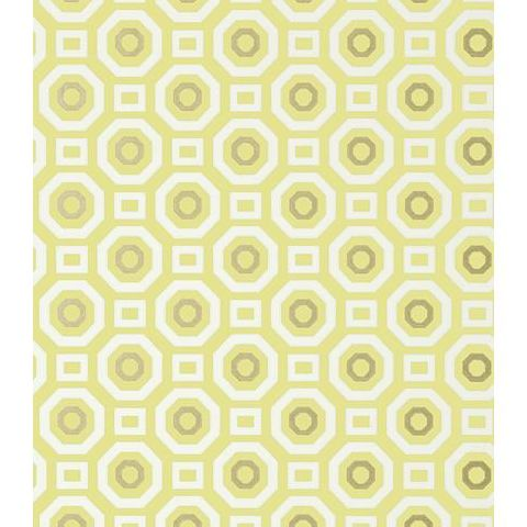 Anna French Seraphina Zane Wallpaper AT6035 Metallic gold on Citron