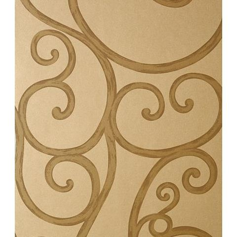 Anna French Seraphina Palace Gate Scroll Wallpaper AT6053 Metallic Gold