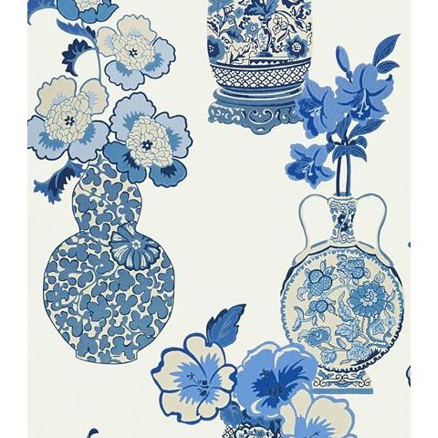 Anna French Serenade Clarissa Wallpaper AT6107 Blue and White