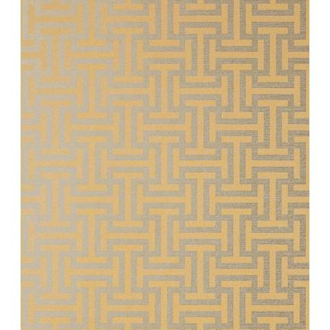Anna French Serenade Rymann Wallpaper AT6150 Metallic Gold on Silver