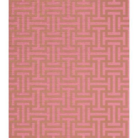 Anna French Serenade Rymann Wallpaper AT6152 Metallic Gold On Pink