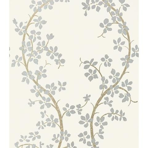 Anna French Serenade St Albans Grove Wallpaper AT6153 Silver on Cream