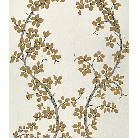 Anna French Serenade St Albans Grove Wallpaper AT6157 Metallic Gold on Pearl
