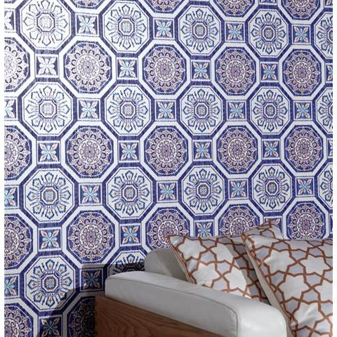 Arthouse Imagine Tropics Wallpaper Brasilia Blue