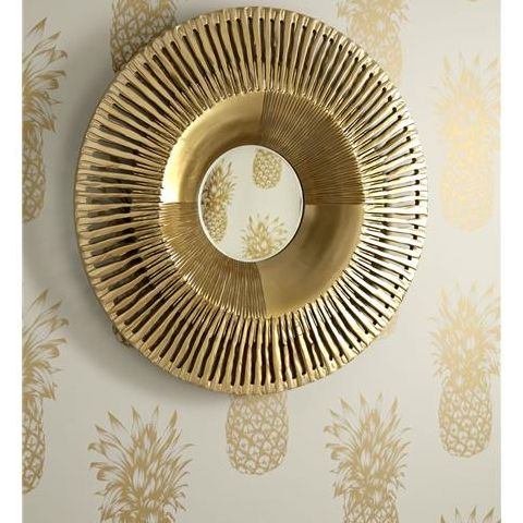 Arthouse Imagine Tropics Wallpaper Copacabana Pineapple Gold