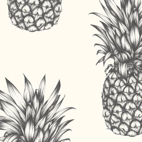 Arthouse Imagine Tropics Wallpaper Copacabana Pineapple Black