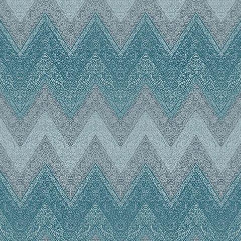 Galerie Indo Chic ZigZag Wallpaper G67350 Blue